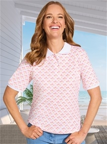 Printed Short Sleeve Polo