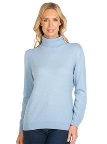 Turtle Neck Long Sleeve Cashmere Sweater