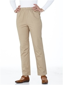 Pull-On Stretch Twill Pants