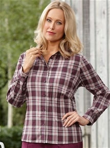 Crushed Check Blouse