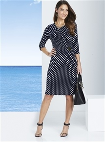 Nautical Spot Dress