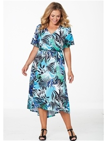 Leaf Wrap Dress