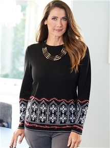 Snowflake Knit Sweater