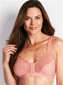 Lace Trim Front Fastening Bra