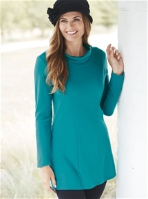 Bamboo & Merino Roll Neck Tunic