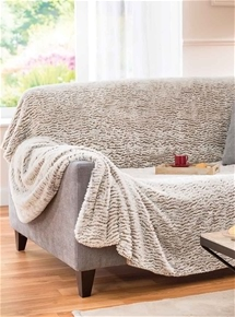 Extra Large Faux Fur Throw