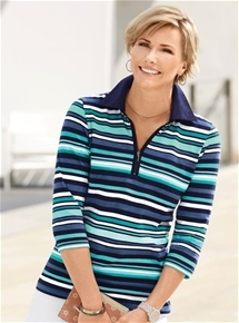 Bright Stripe Zip Rugby