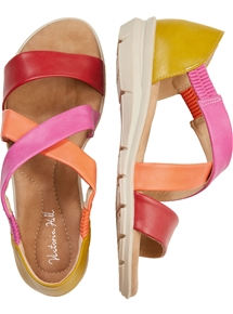 Colourful Crossover Sandal
