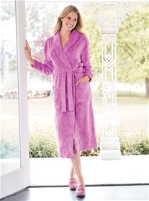 Wrap Fleece Gown