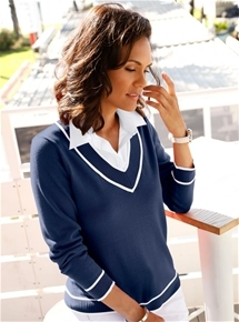 Oxford Two-in-One Sweater