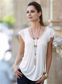 Frill Sleeve Georgette Top