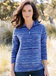 Stripe Fleece Sweatshirt