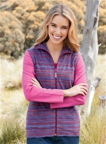 Stripe Fleece Vest