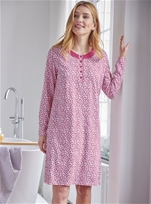 Long Sleeve Jersey Nightie