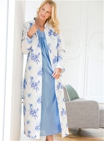 Quilted Satin Dressing Gown