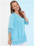 Embroidered Hem Tunic_17S28_1