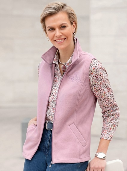 Rosy Fleece Vest