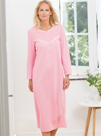 Thermal Lace Trim Nightie